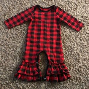 Other - NWT Buffalo Plaid Baby Girl Romper